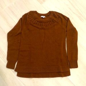Sonoma rust brown color cable knit sweater S